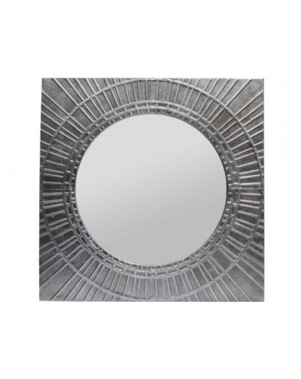 Libra Inca Antique silver Square Iron mirror